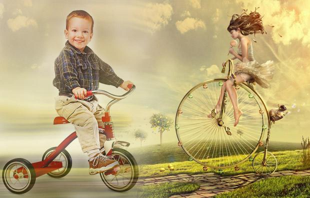 научить ребенка кататься на велосипеде